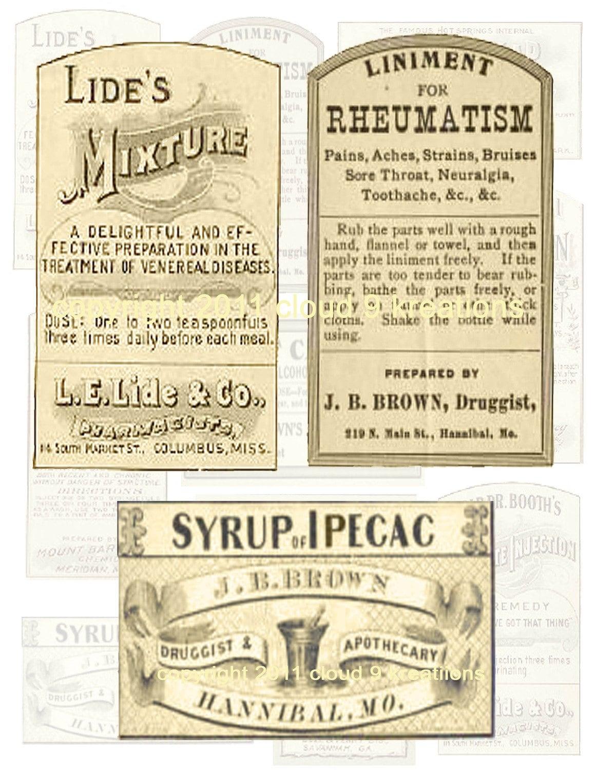 vintage medicine labels related keywords vintage