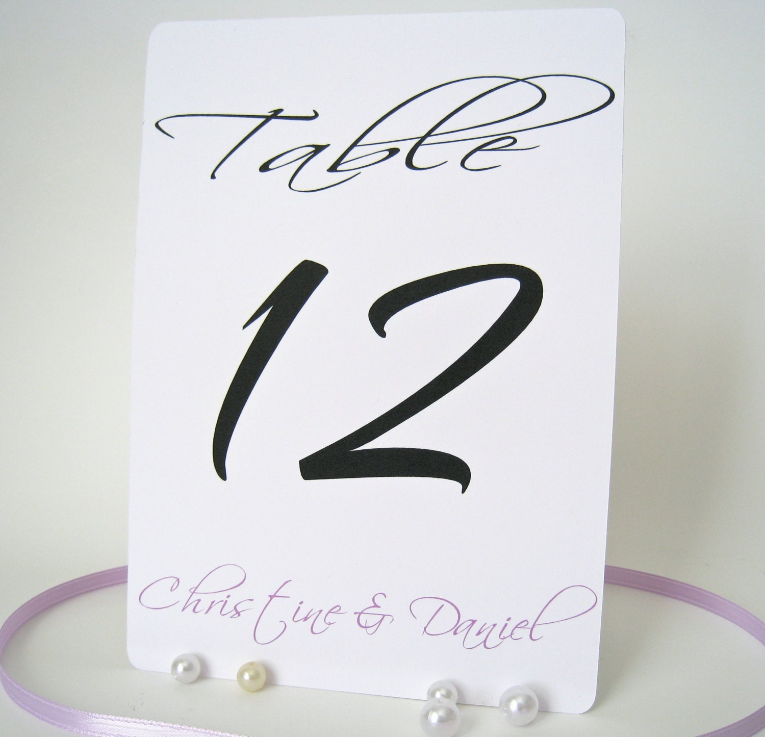 "Personalized table numbers 5"" x 7"", wedding table numbers cards, set of 10 - PaperLovePrints"