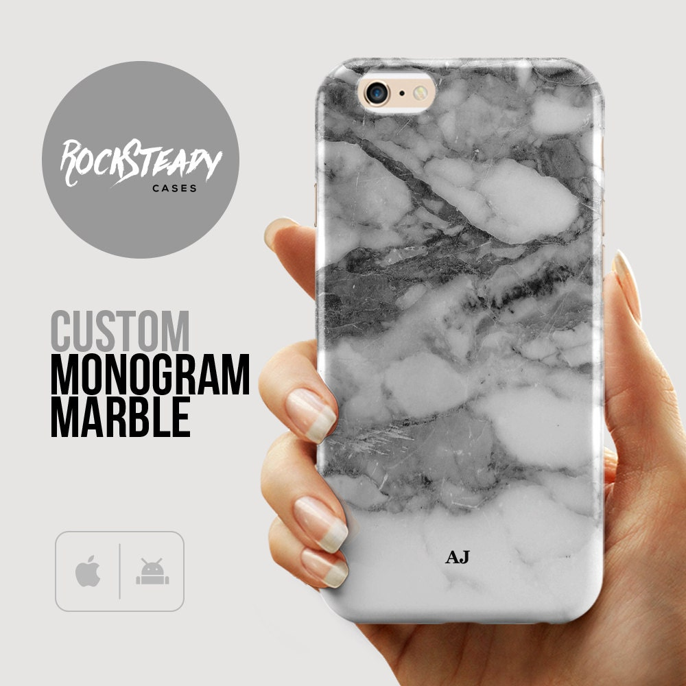 Monogram Marble iPhone 7 case 6s Plus iPhone 6 case Samsung Galaxy s6 S7 case S5 6 Plus case iPhone 5s Case SE case name samsung