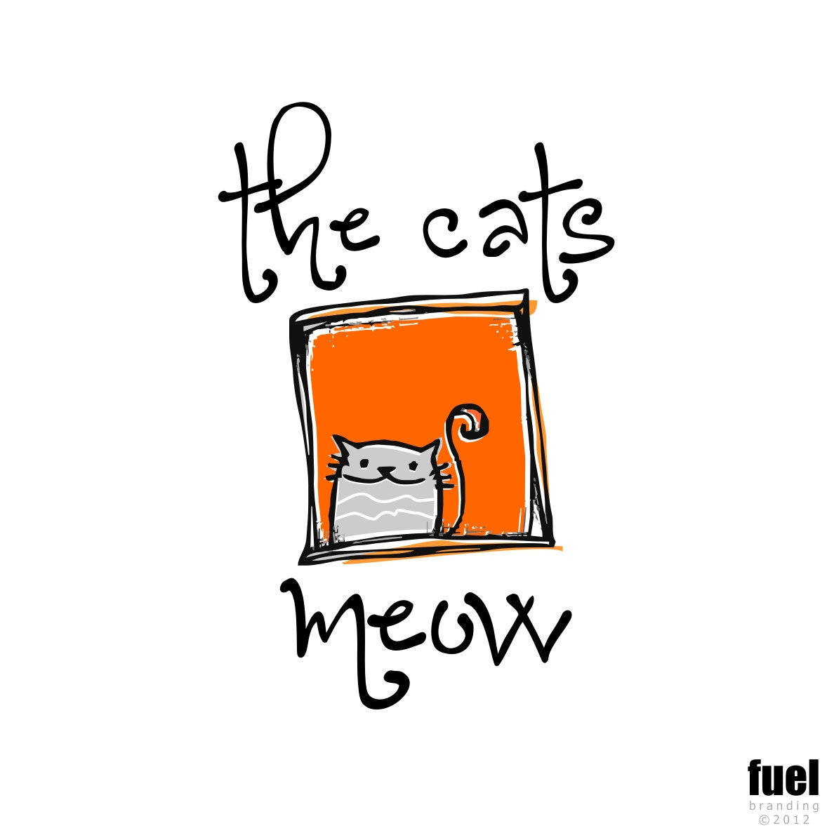 Premade OOAK Logo - The Cat's Meow Logo - FuelBrandDesign