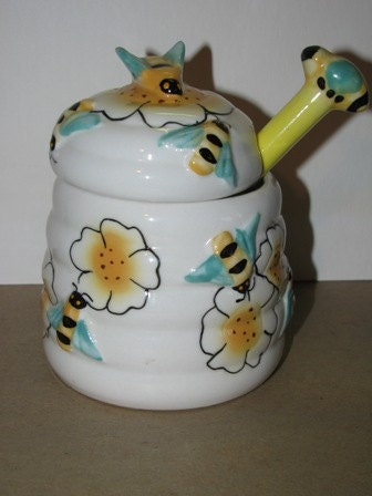 Http Www Etsy Com Listing 96764534 Vintage Style Bumble Bee Honey Jar Bees