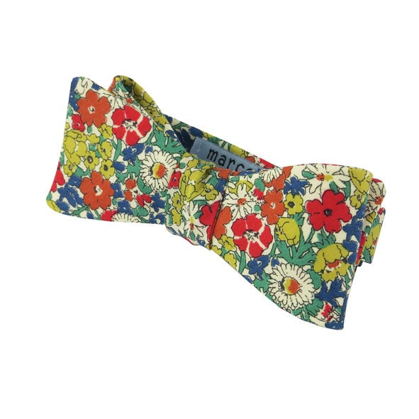 ... similar to LIBERTY BOW TIE - Burnt Orange, Sage, Red Floral on Etsy