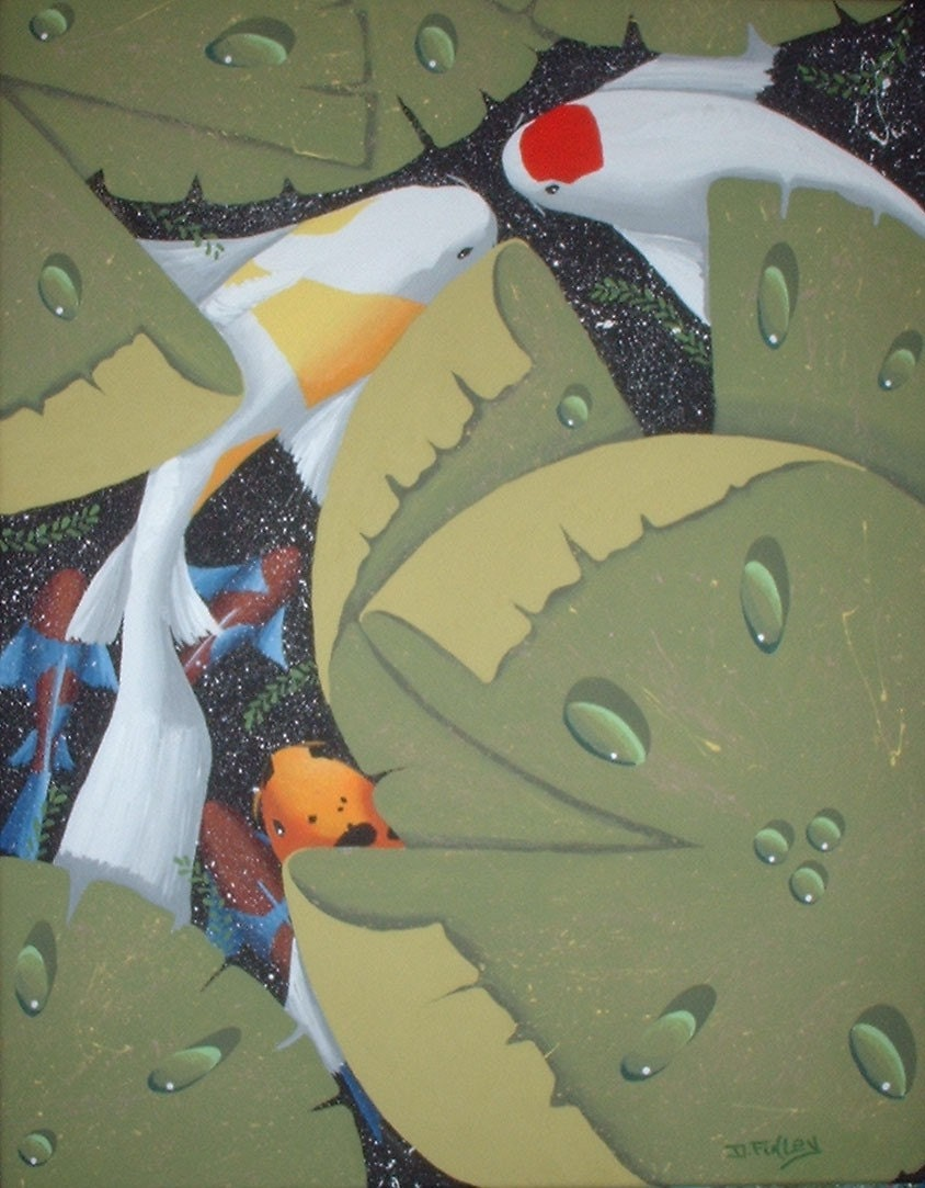 Beautiful koi fish painting original art by dennis by for Original koi fish