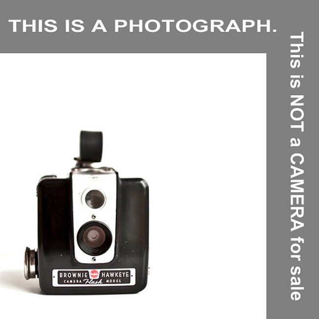 Vintage Brownie Camera print, Minimalist, home decor, black and white photography, men, women - Raceytay