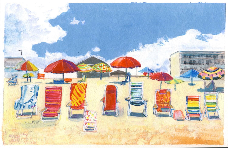 Beach Chairs - KarenRomanoYoung