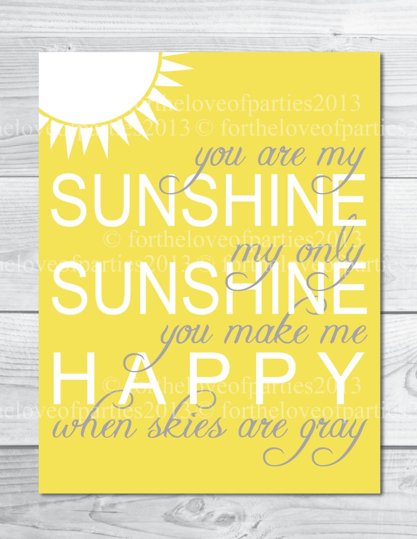 Why are my sunshine