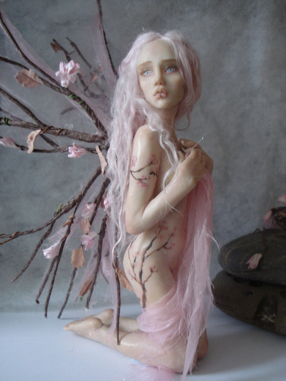 SHADOWSCULPT OOAK FAIRY commission one of a kind sculpture art doll fantasy figurine made to order - shadowsculpt