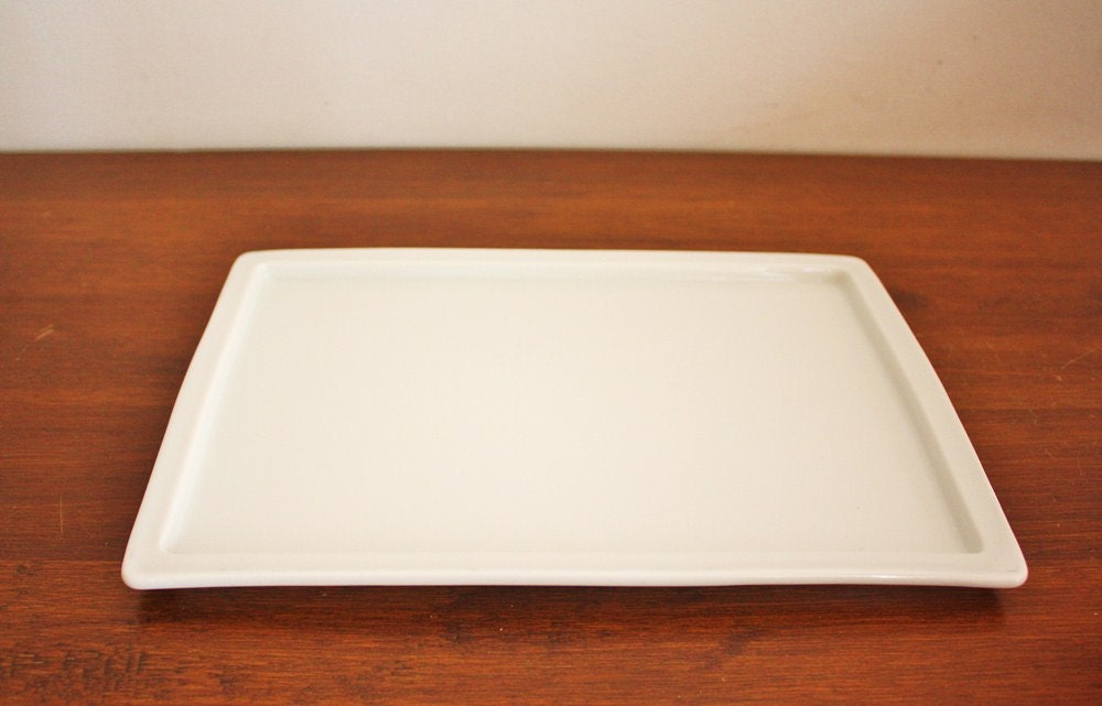 Vintage white porcelain vanity tray by highstreetmarket on for White ceramic bathroom tray