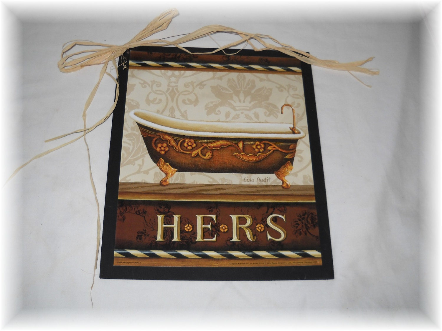Items similar to his and hers bathroom wooden wall art for His hers bathroom decor