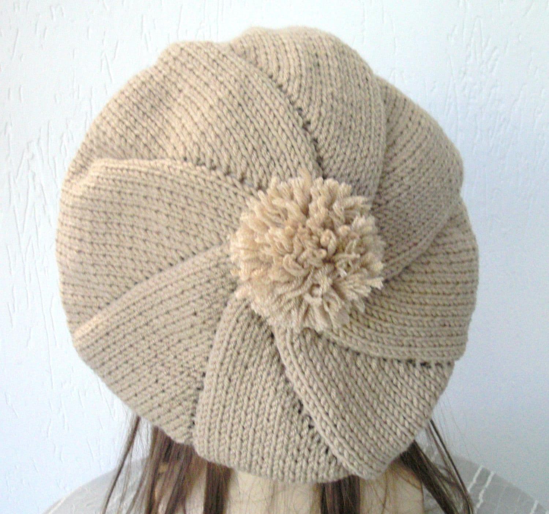 Knitting Accessories Patterns : Knit hat pattern digital knitting pdf for by ebruk