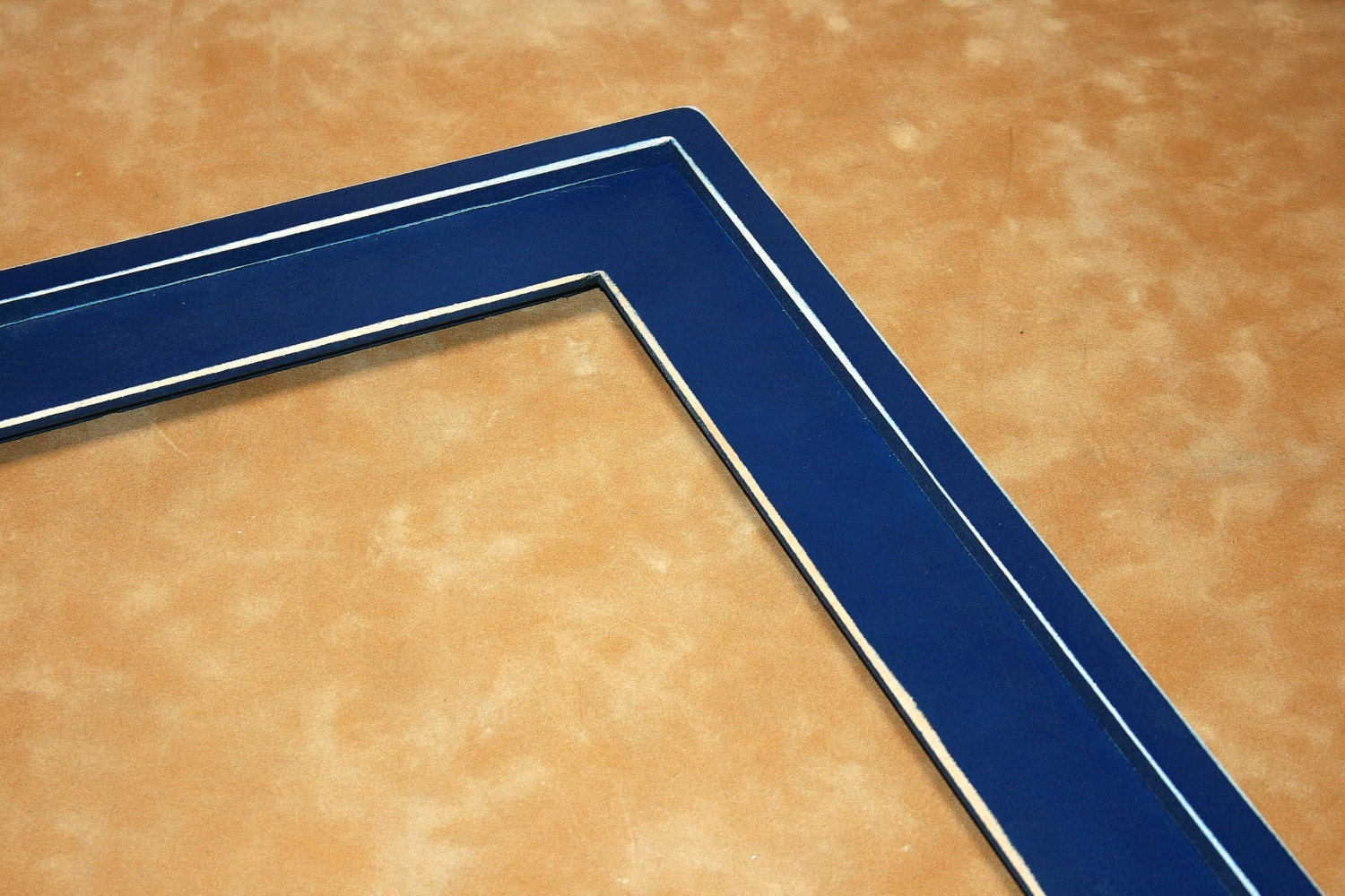 navy blue wood picture frame distressed 8x8 or by 2dogswoodworking. Black Bedroom Furniture Sets. Home Design Ideas