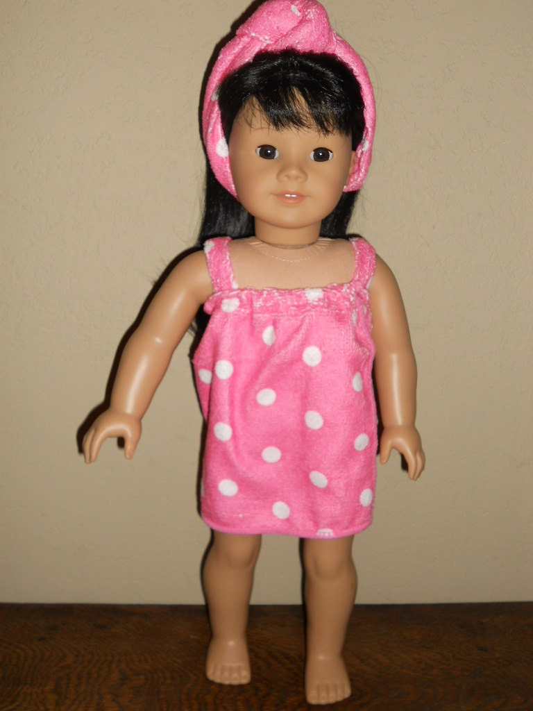 18 Inch American Girl Doll Clothes Bath Time Wrap Ready To Ship