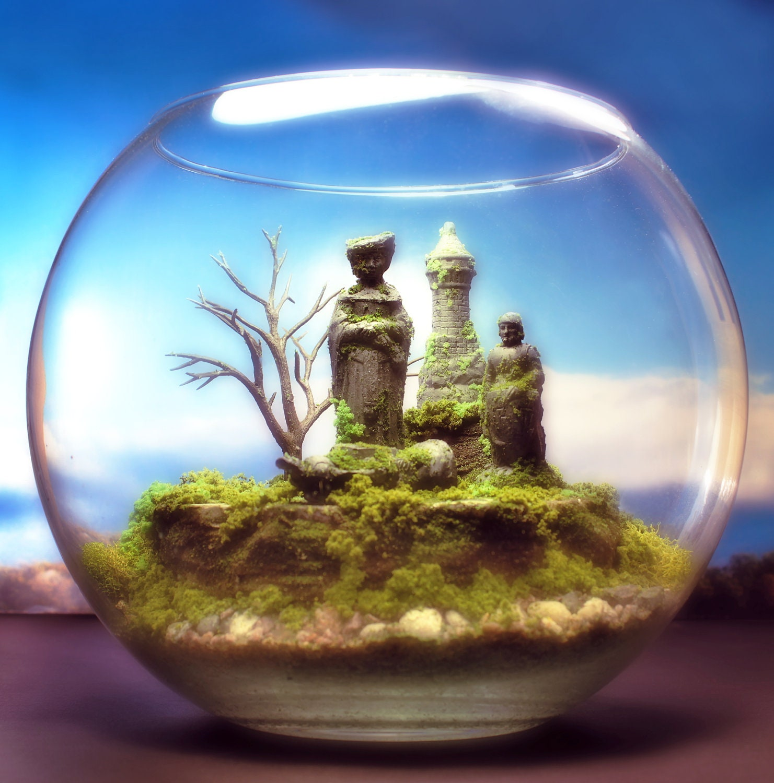 Enchanted Chess Fantasy - Terrarium / Diorama - Mini Zen Garden - Megatone230