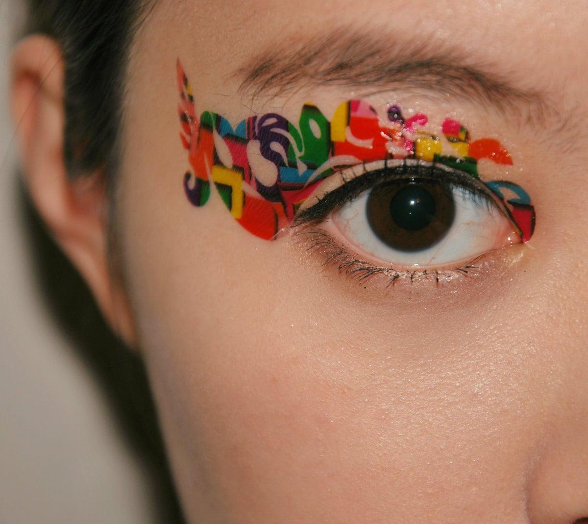 Items similar to 1 pair fake eye temporary tattoo makeup for Eye temporary tattoo makeup