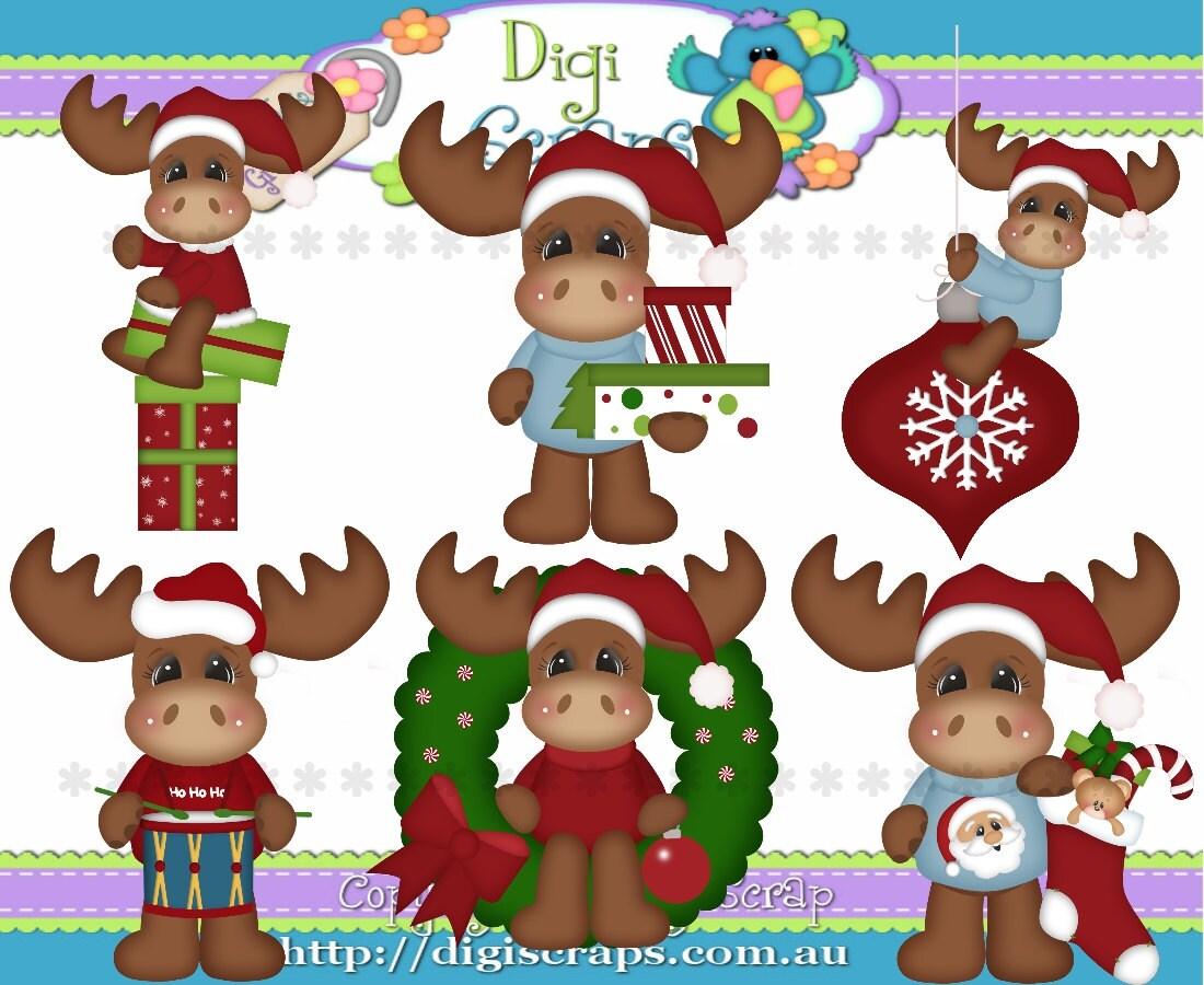 Christmas Moose Clip Art