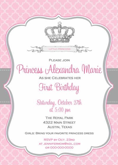 Princess Crown Baby Shower Invitations as great invitations layout