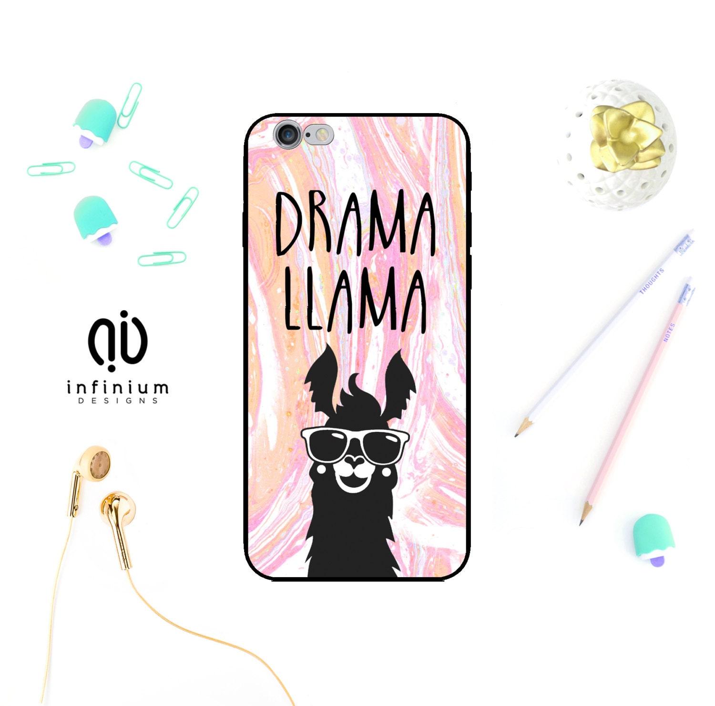 Drama Llama Case For Samsung S8 iPhone 7 7 Plus 6S 6 Plus SE 5S Touch 6 S8 Edge S7 S7 Edge A3 A5 Galaxy J3 J5  Core Prime