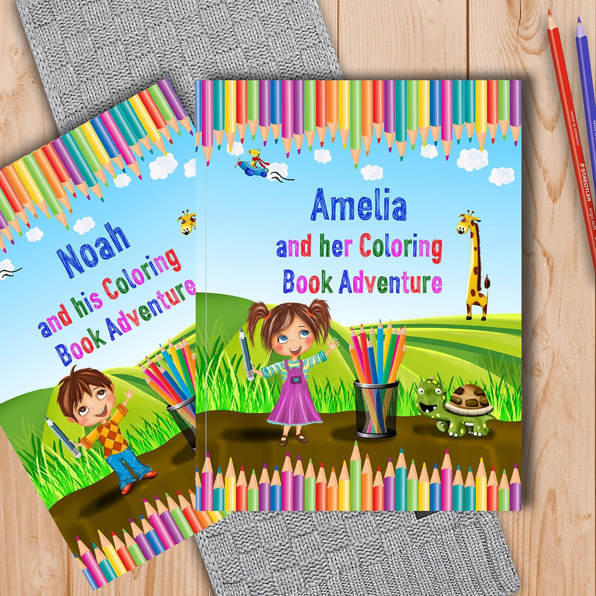 Personalized Coloring Book for Kids  A Fun Coloring Book Adventure to Help Learn the Alphabet and Animals  A Great Gift for Young Children
