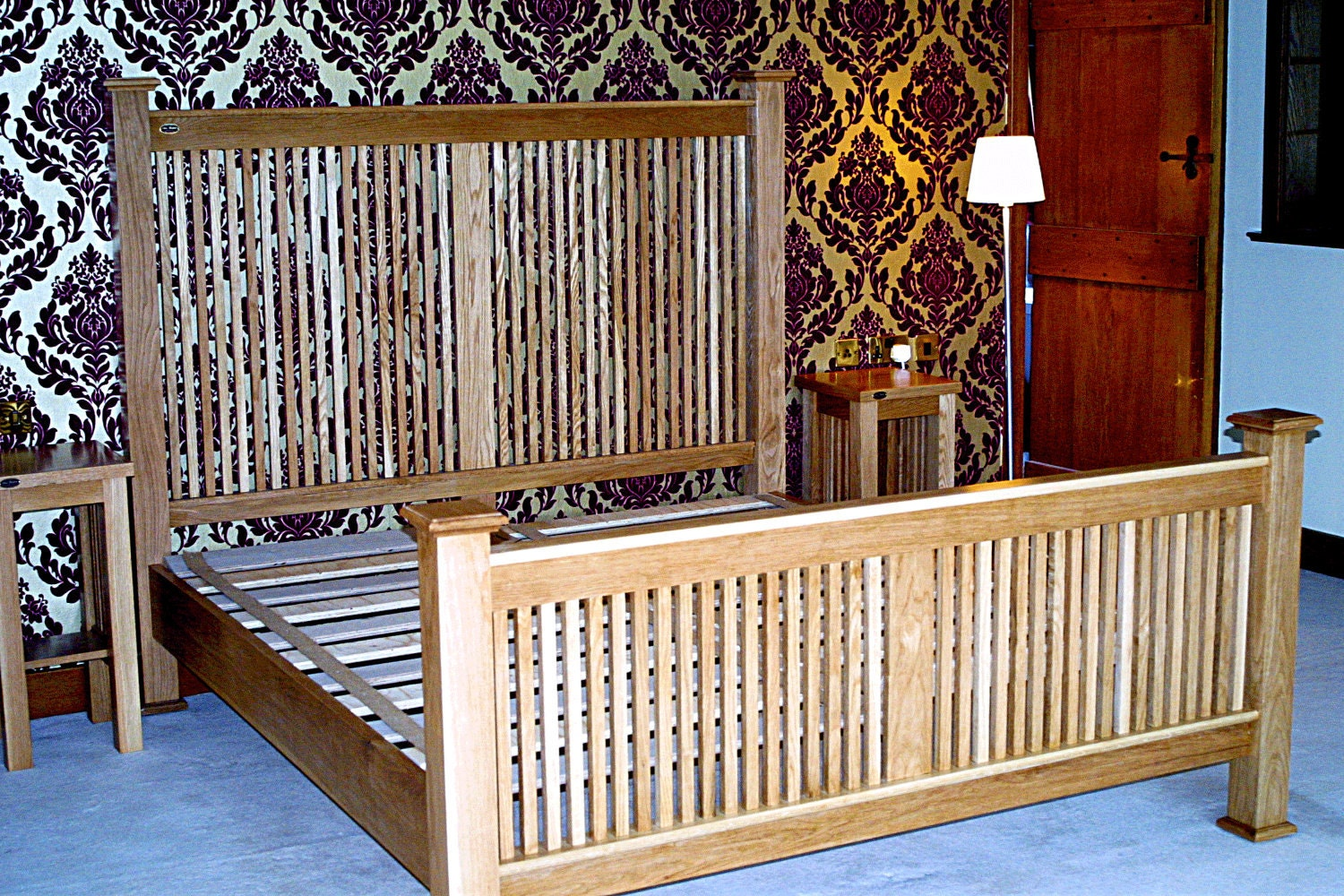 Mission Style White Oak SuperKingsize Bed. Arts and Crafts
