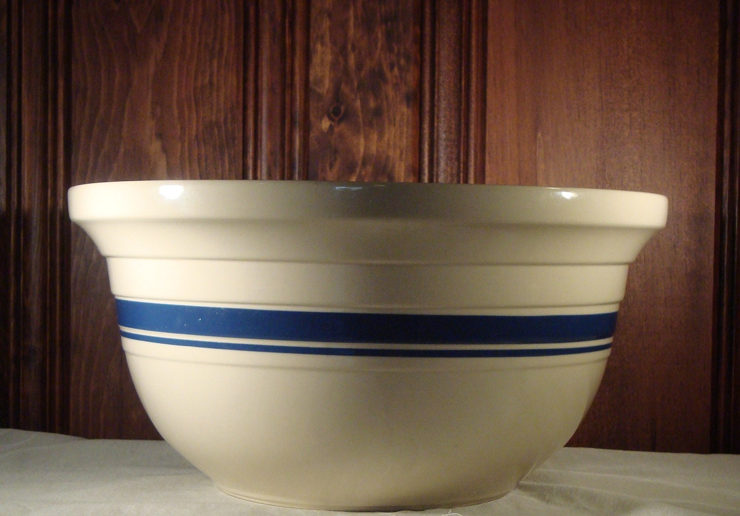 Roseville Pottery 8 Quart Mixing Bowl By Dominiondesign On