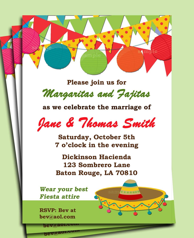 Fiesta Party Invitation Printable Birthday By ThatPartyChick