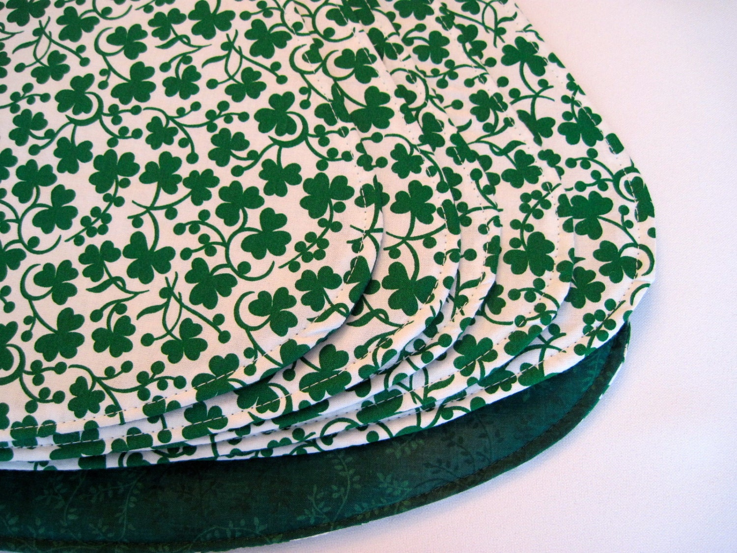 shamrock wedge placemats st patricks day by tracystreasuresri
