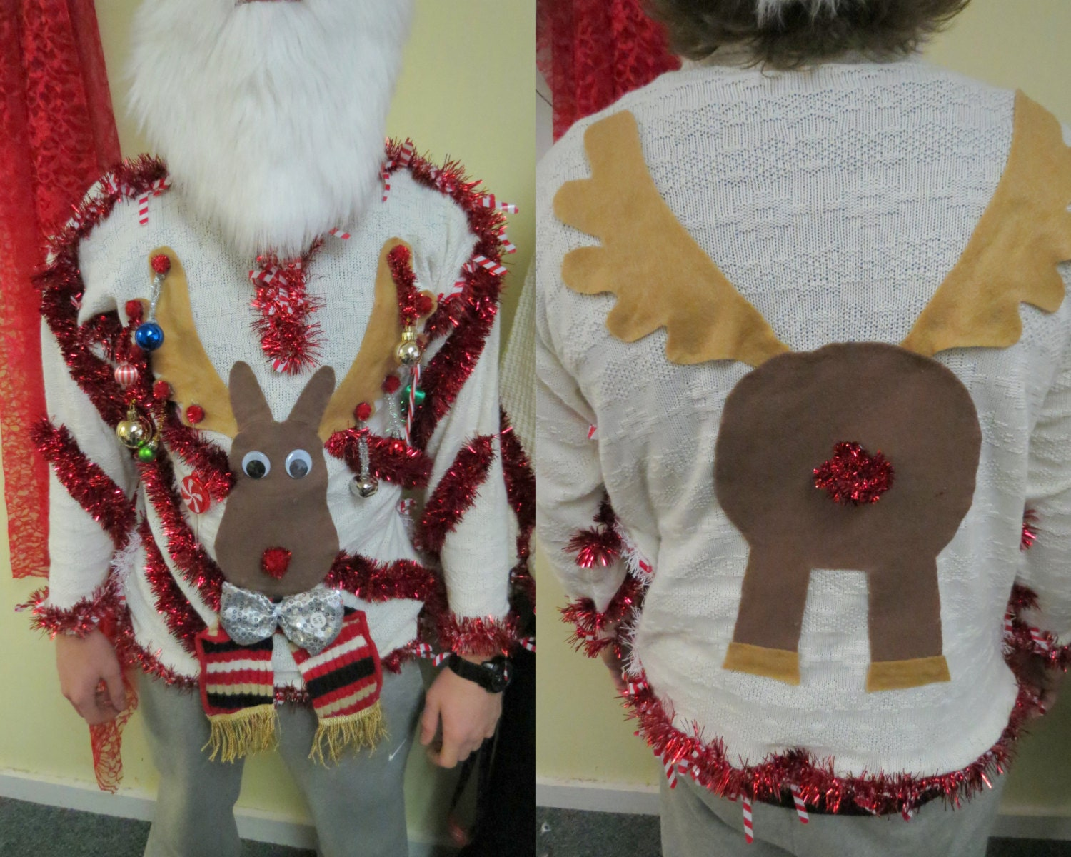 Ugly Light Up Christmas Sweaters For Men Images & Pictures - Becuo