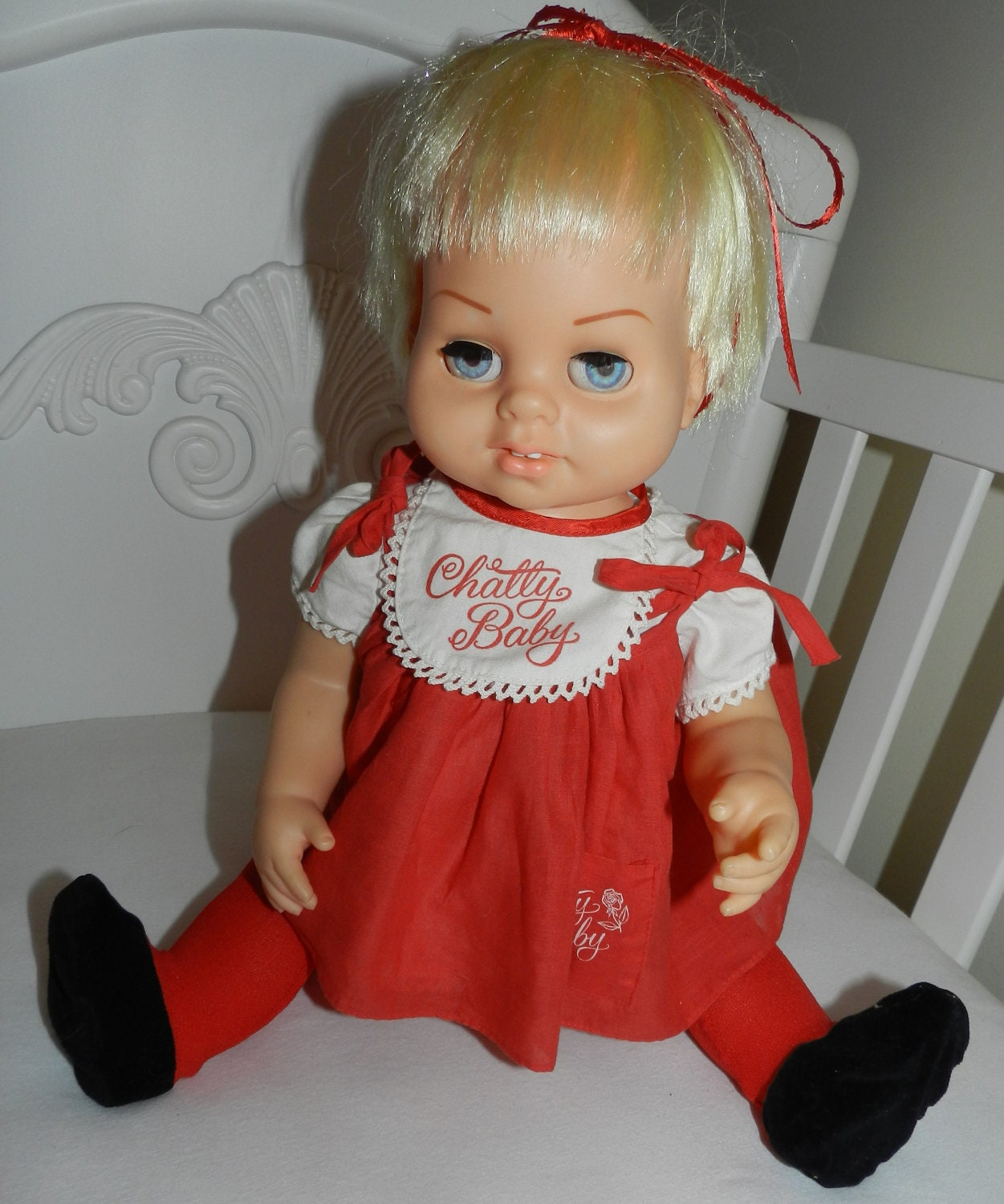 Chatty baby vintage doll chatty cathy s baby by theseahorsecottage