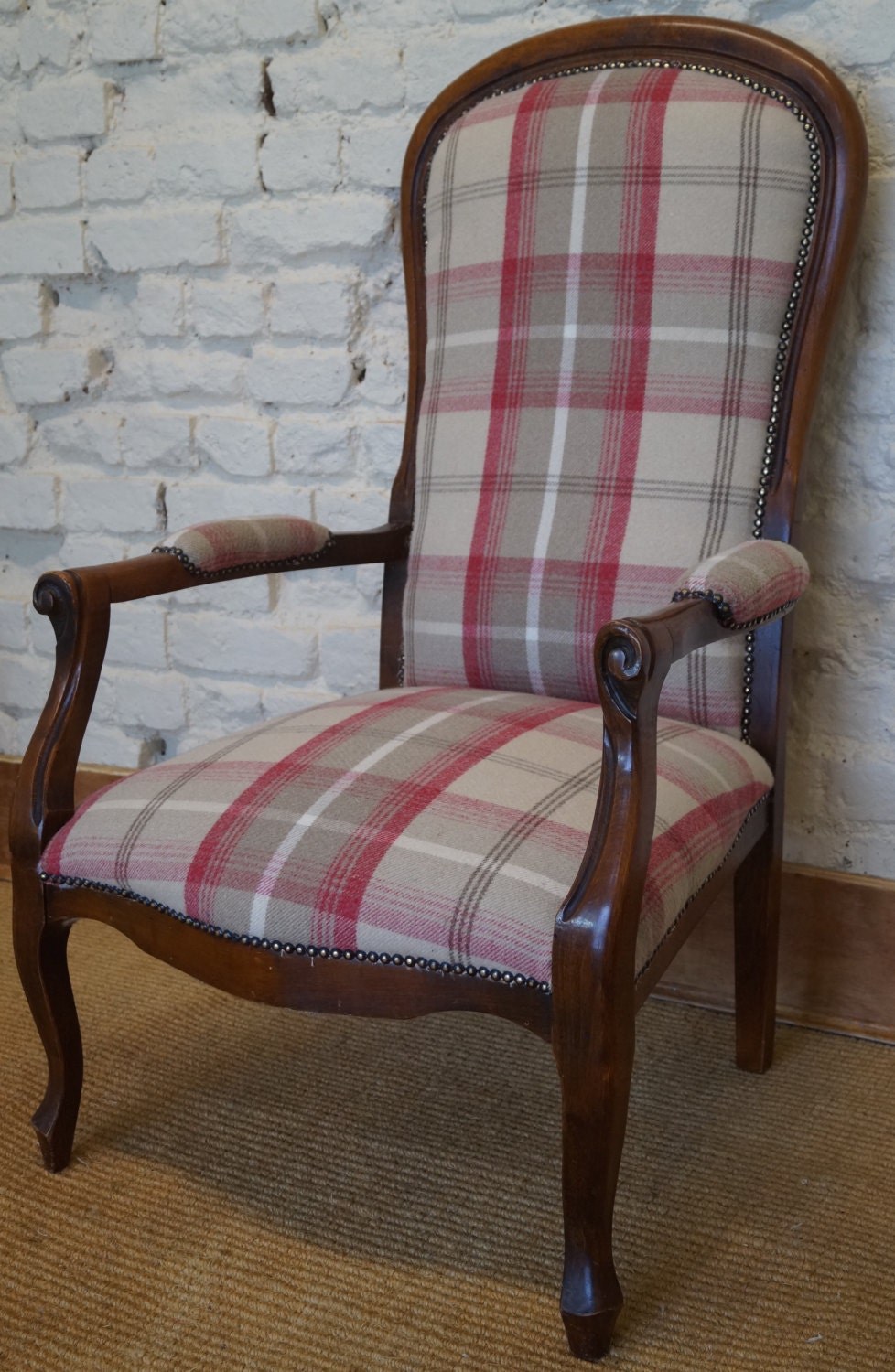 French Vintage Voltaire Armchair