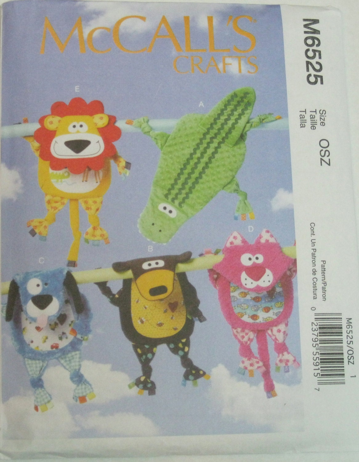 McCall's Crafts Pattern M6525 Blankies by Aviewfromasmallworld