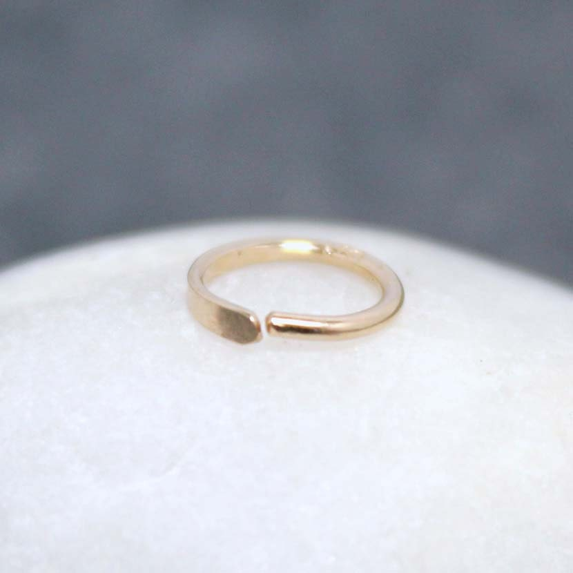 14k 7mm solid gold nose ring tragus cartilage by royalcountess