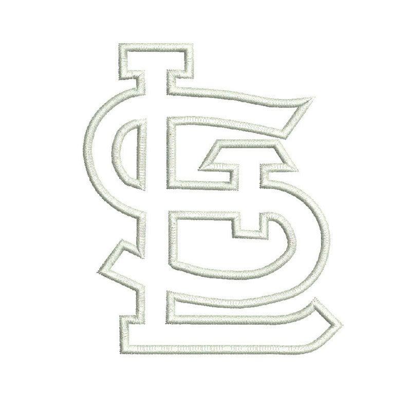 St Louis Cardinals Logo Applique Design By Mysewcuteboutique St Louis Cardinals Coloring Pages