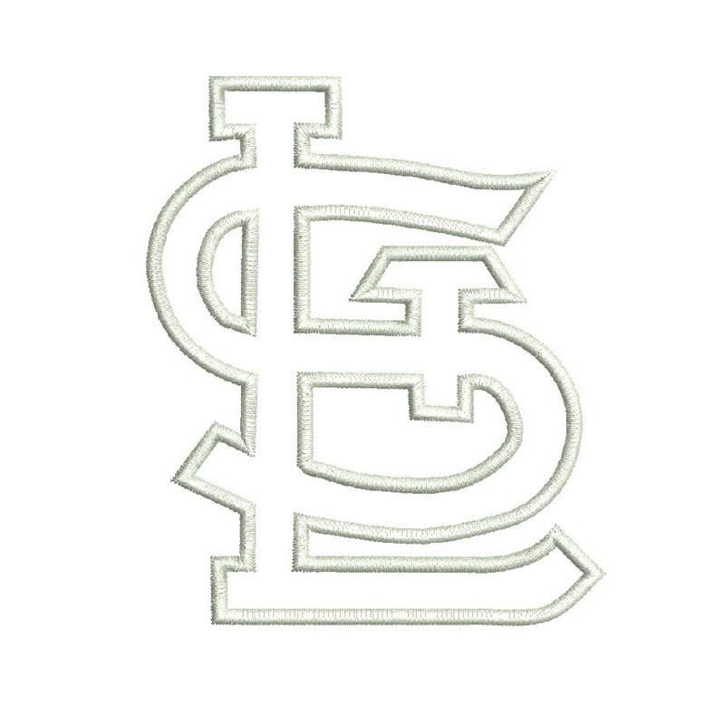 St Louis Cardinals Logo Applique Design By Mysewcuteboutique