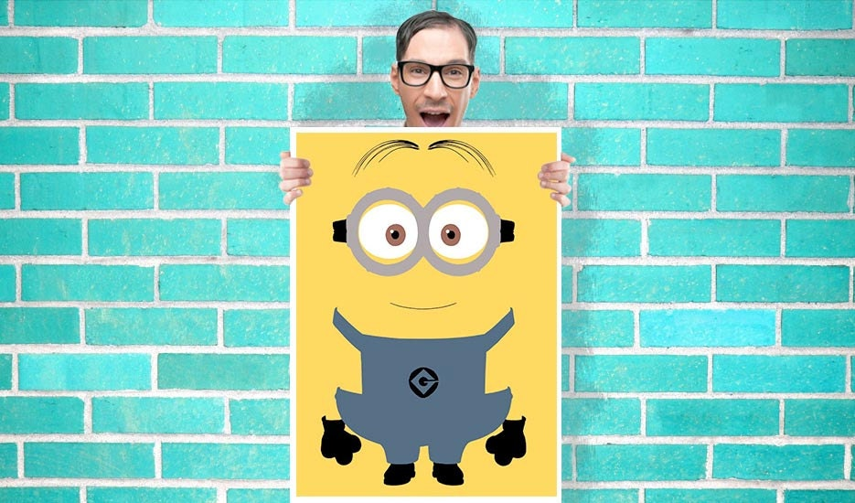 Despicable me Minions Dave Art - Wall Art Print / Poster 16x23 Inch - Kids Children Bedroom Geekery