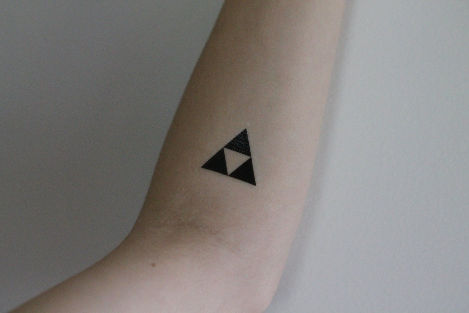 Music heart beat temporary tattoo by mossandferndesignco for Triforce hand tattoo