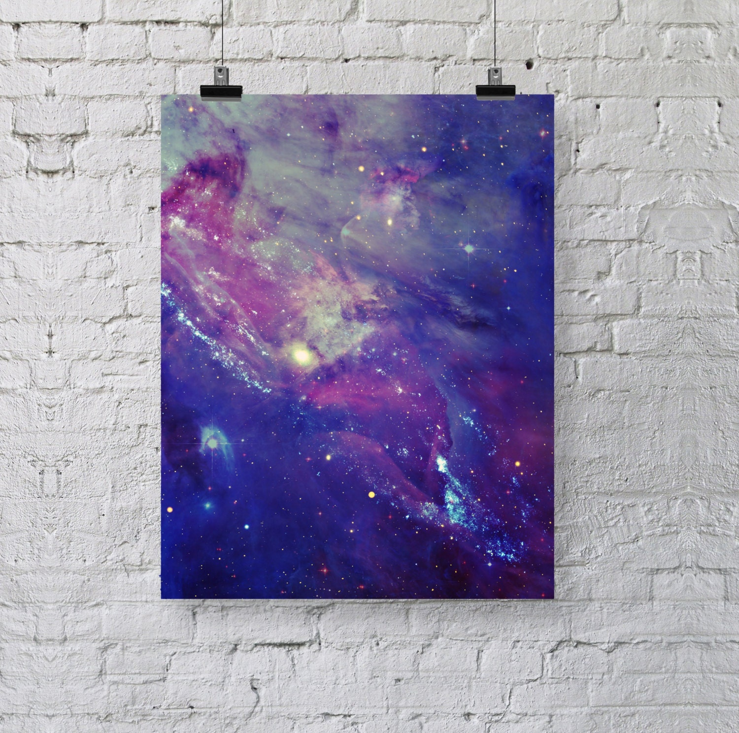 Galaxy Collage Poster Stars In Space Photography By Bysamantha