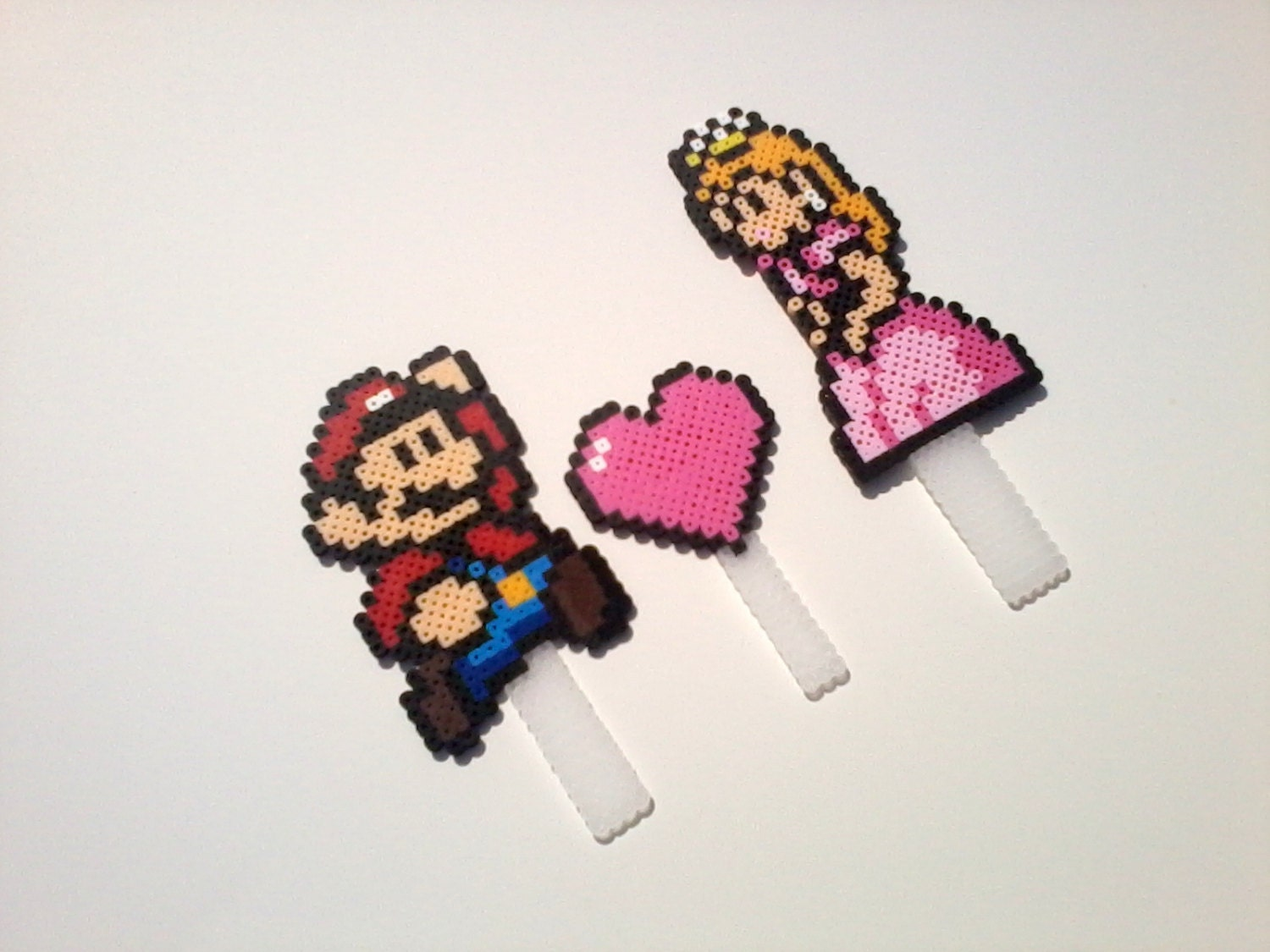 Cake Toppers - Mario and Princess Peach Wedding Cake Toppers