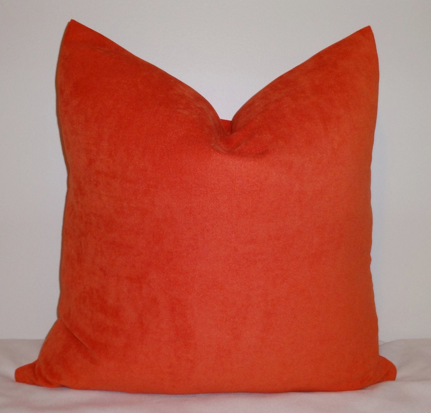 Solid Orange Tangerine Pillow Cover Decorative by HomeLiving