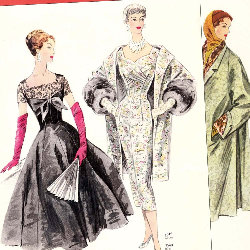 PDFs of 50s sewing pattern catalogs  Neue Modelle Winter 19567  36 pages