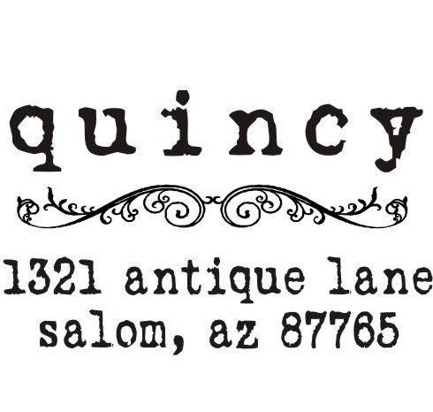 Vintage Antique Typewriter Font Custom Return By
