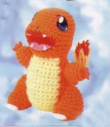 Amigurumi Pokemon Charmander Dragon Animal Doll crochet by ...