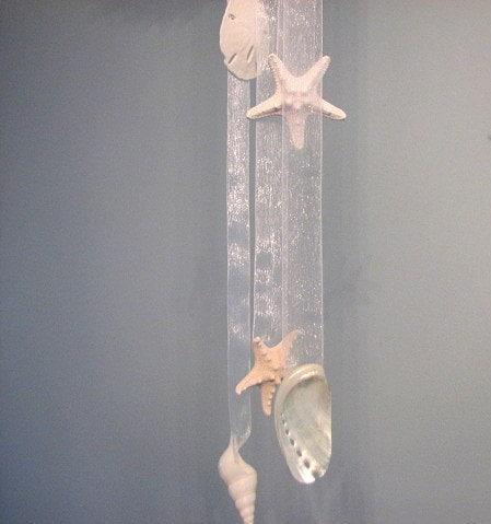 Пляж Свадебный декор, Shell и Starfish Белый цветок Висячие Болл, 12 дюймов