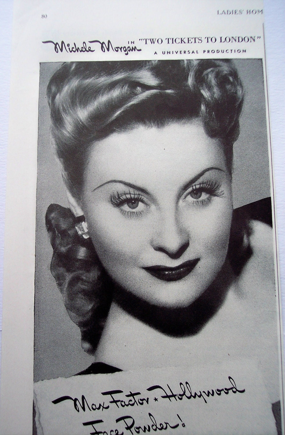 Beauty AD Max Factor Make-Up 40s actress by AdmanVintageAds