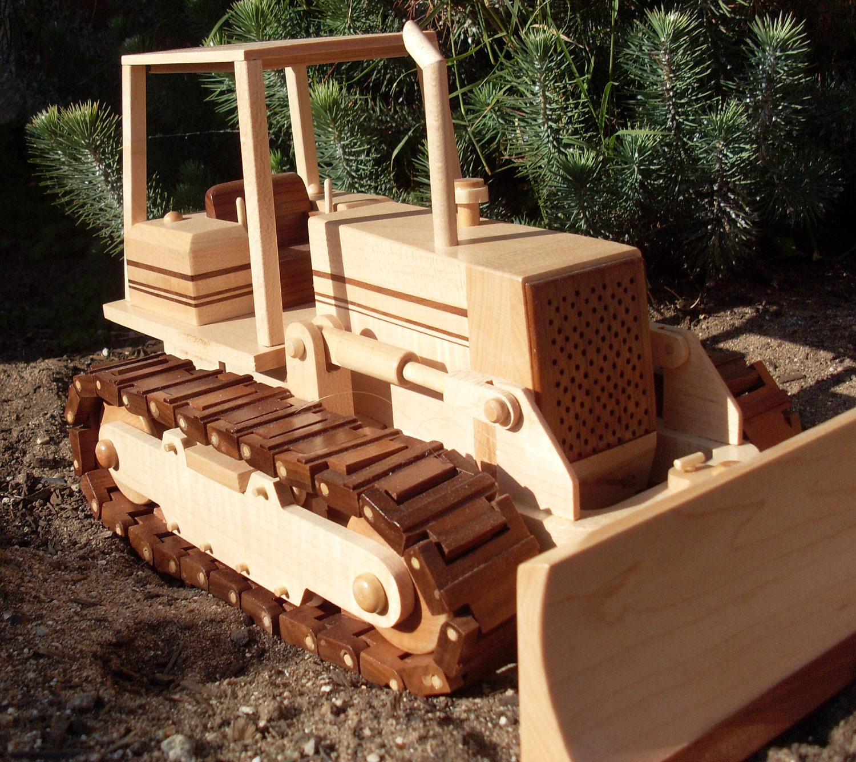 Items similar to Wooden Bulldozer on Etsy