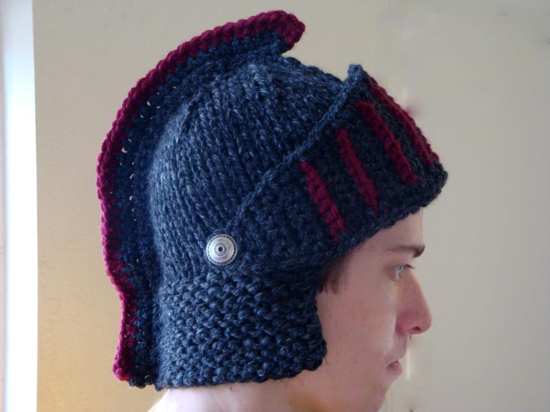 Knitting Pattern Knight Hat : USC Trojan Hat Knight Helmet Beanie by FiberFlowersAndBeads