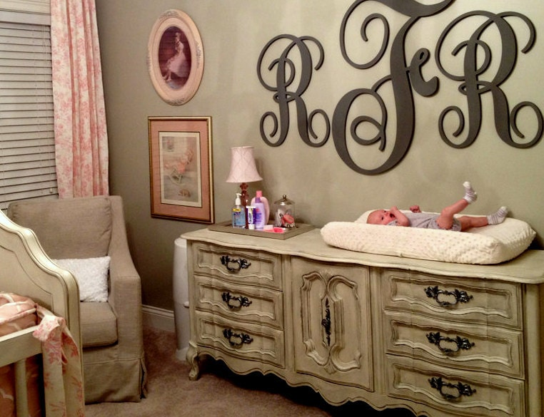 items similar to large wall letters giant script wall. Black Bedroom Furniture Sets. Home Design Ideas