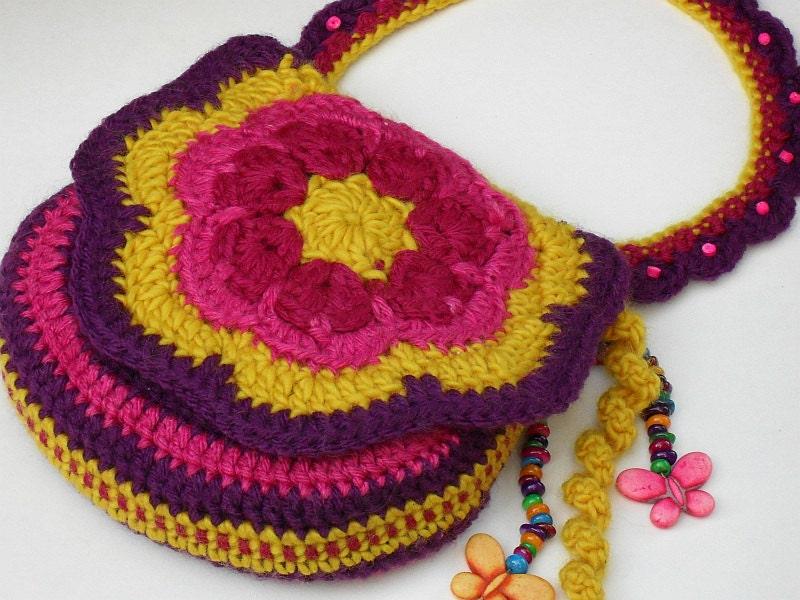 Ravelry: Pleats Purse I - crochet version pattern by