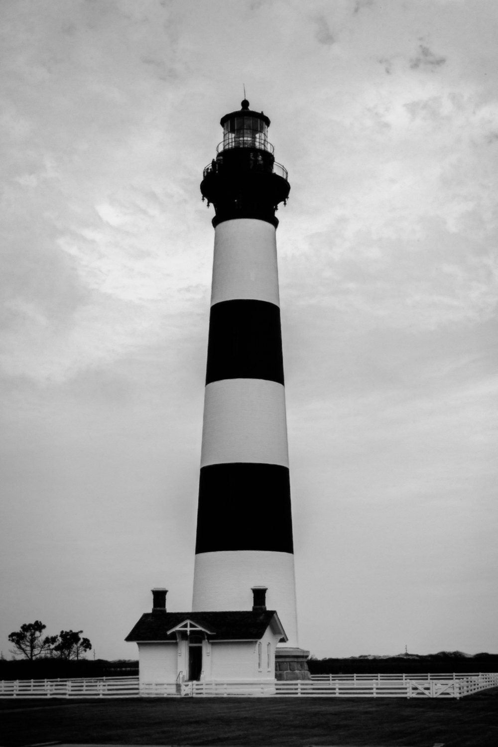 Items Similar To Bodie Island Lighthouse Black And White