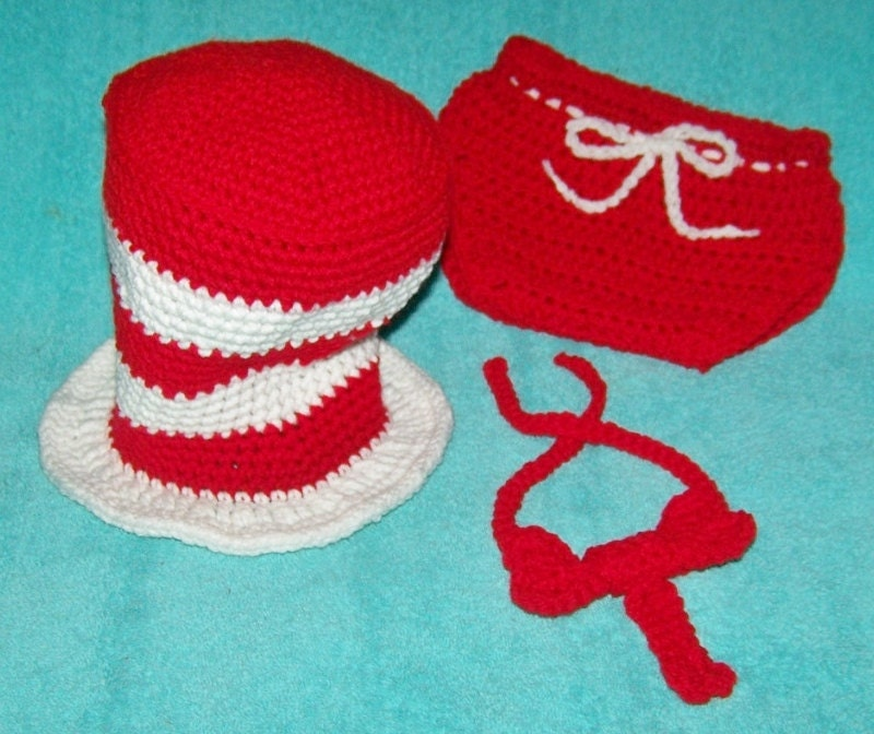 dr seuss baby shower hat diaper cover and tie newborn photo prop cat
