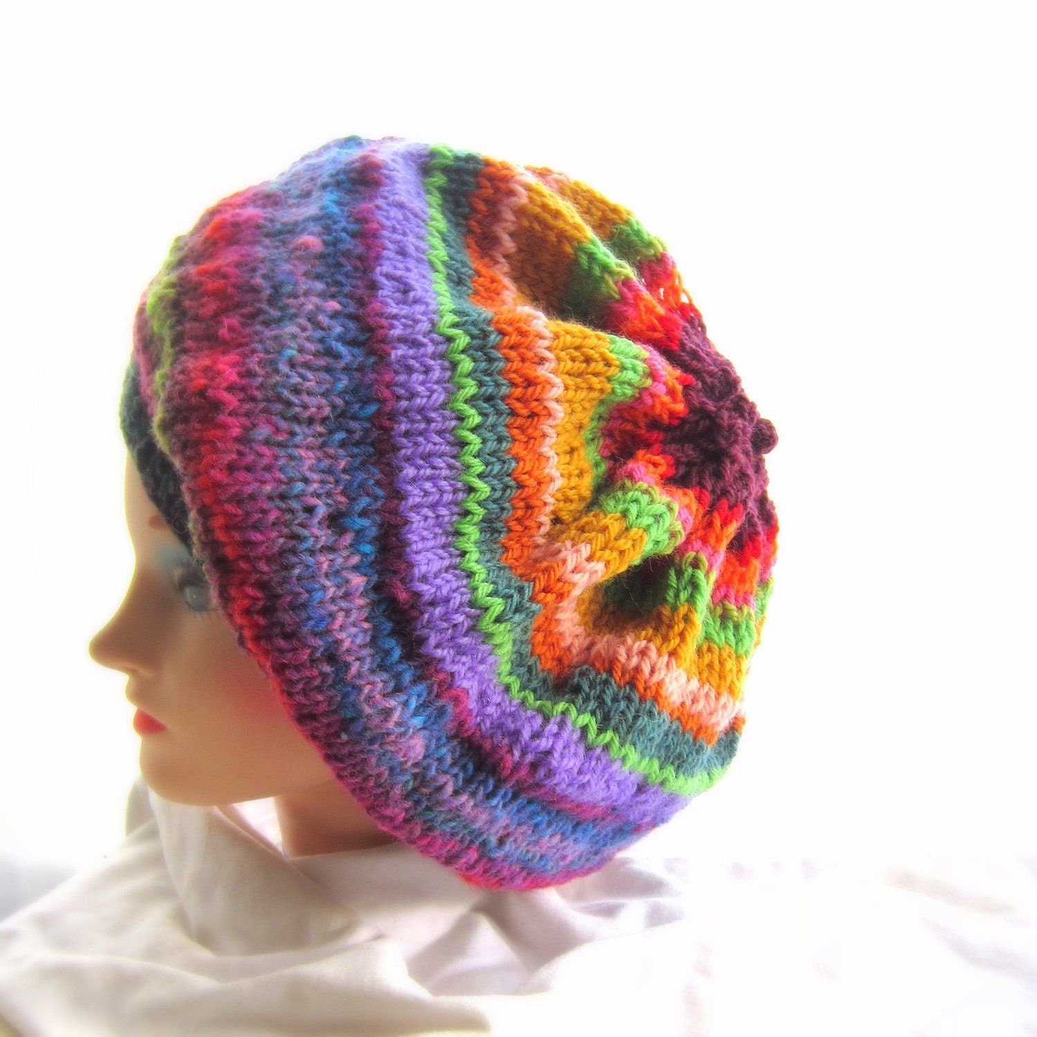 Knitting Hat Patterns Easy : Super Easy Hat Knitting Pattern Tutorial by GraceKnittingPattern